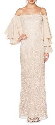 Laundry by Shelli Segal Off-The-Shoulder Floor-Length Gown