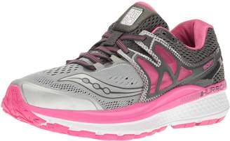 Saucony Women's Hurricane ISO 3 Running Shoes, Grey/Pink/White