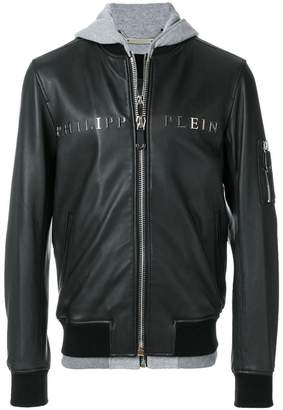 Philipp Plein Urban hooded bomber jacket