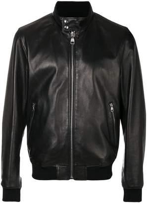 Salvatore Ferragamo front zipped bomber jacket