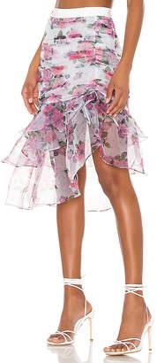 For Love & Lemons X REVOLVE Asymmetric Ruffle Skirt