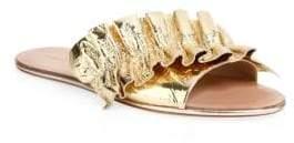Loeffler Randall Rey Metallic Leather Slides