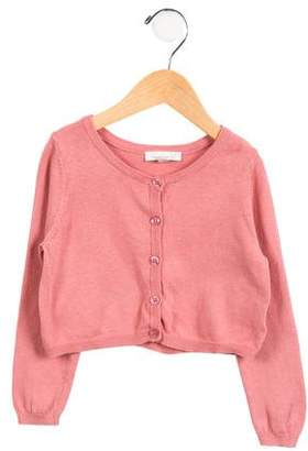 Marie Chantal Girls' Cropped Button-Up Cardigan