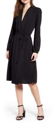 Chelsea28 Long Sleeve Midi Wrap Dress