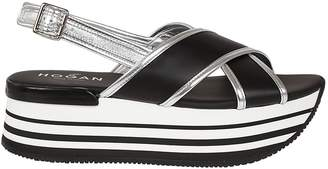 Hogan Plateau Platform Sandals