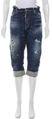 DSQUARED2 High-Rise Distressed Jeans