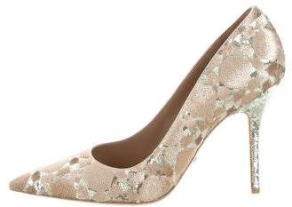 Christian Dior Sequin Pointed-Toe Pumps w/ Tags