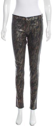 J BrandJ Brand Coated Snake Print Skinny Pants