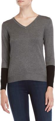Vila Milano Color Block V-Neck Sweater