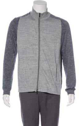 Theory Rib Knit Zip-Up Sweater