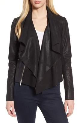 Trouve Convertible Drape Leather Jacket