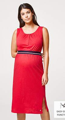 Esprit Slub dress with nursing top and elasticated waistband