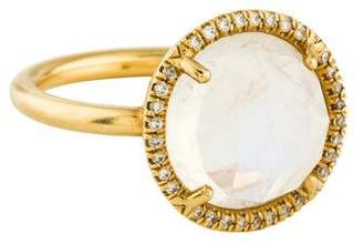 Irene Neuwirth 18K Moonstone & Diamond Cocktail Ring