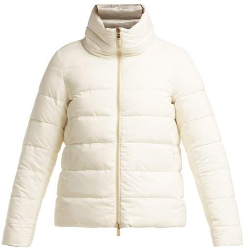 Nuage Matte Down Filled Quilted Jacket - Womens - White Multi