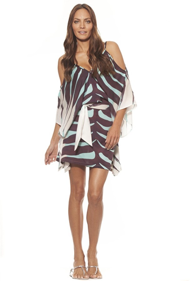 Ramona Larue Ramona La Rue Chloe Dress in Aqua Zebra