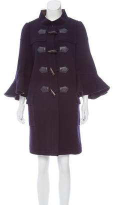 Sacai Knee-Length Wool Coat