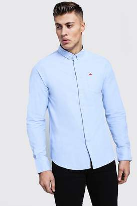 boohoo Long Sleeve Oxford Shirt