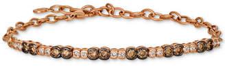 LeVian Le Vian Strawberry & Nude Diamond Link Bracelet (1-1/5 ct. t.w.) in 14k Rose Gold