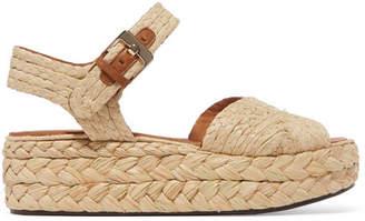 Aude Clergerie Raffia Platform Sandals