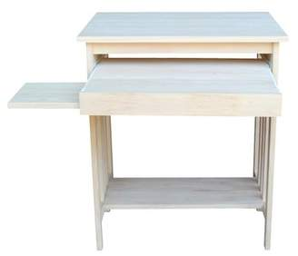 International Concepts Unfinished Wood Mission Computer Desk