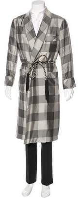 Tom Ford Houndstooth Silk Robe