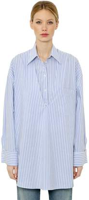 MM6 MAISON MARGIELA Oversize Layered Striped Cotton Shirt