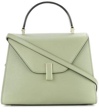 Valextra structured flap top tote bag