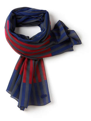 Lacoste Women's Colored Stripe Twill Scarf