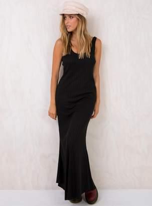 Somedays Lovin Burning Palms Black Maxi Dress