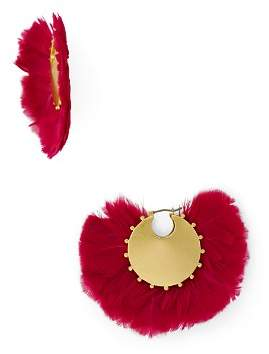 Kate Spade Crystal & Feather Statement Earrings
