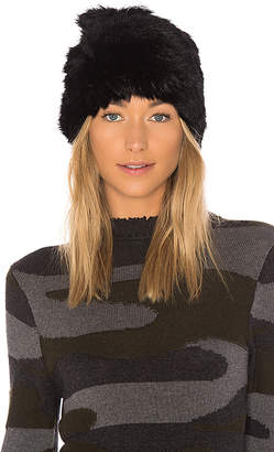 Hat Attack All Rabbit Slouchy Beanie with Fur Pom
