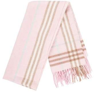 Burberry Cashmere & Wool Check Scarf