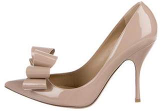 Valentino Patent Bow Pumps w/ Tags Nude Patent Bow Pumps w/ Tags
