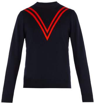 Stella McCartney Striped Wool Sweater - Mens - Navy