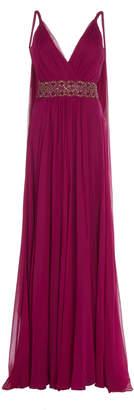 Jenny Packham Tahoe Silk Chiffon Draped Gown