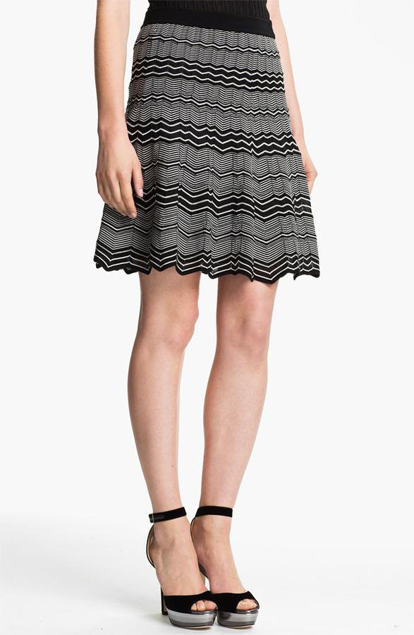 M Missoni Micro Zigzag Pleat Skirt