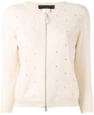 Fabiana Filippi cashmere zip front cardigan