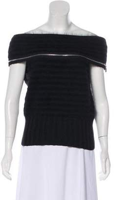 Chanel Off-the-Shoulder Sleeveless Sweater