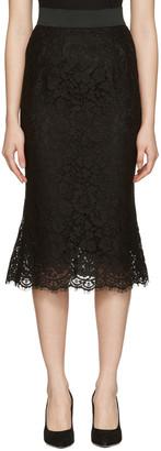 Dolce & Gabbana Black Macrame Pencil Skirt $1,395 thestylecure.com