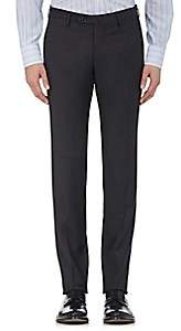 Incotex Men's S-Body Slim-Fit Wool Trousers - Charcoal
