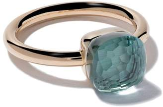 Pomellato 18kt rose gold small Nudo light blue topaz ring