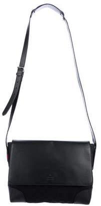 Gucci GG Canvas Leather Trim Messenger Bag