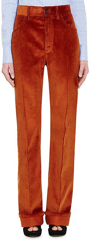 Prada Women's Cotton Corduroy Wide-Leg Trousers