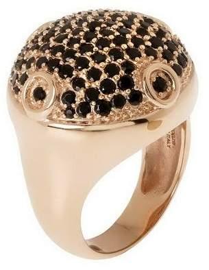 Bronzo Italia Bold Pave-Set Crystal Ring