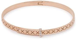 Bottega Veneta Intrecciato 18kt Rose Gold & Diamond Bracelet - Womens - Rose Gold