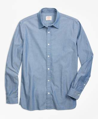 Brooks Brothers Pindot Chambray Sport Shirt