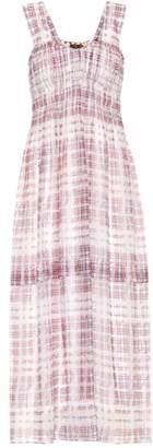 Burberry Scribble Check silk dress
