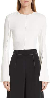 Cushnie et Ochs Flare Sleeve Crop Top
