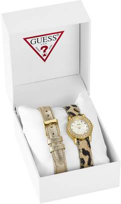 GUESS Petite Sparkle Watch Set $115 thestylecure.com