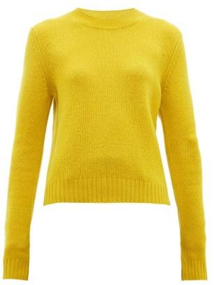 Bottega Veneta Exaggerated Sleeve Cashmere Blend Sweater - Womens - Yellow